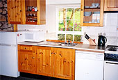 Kitchen at The Doll's House holiday cottage, nr Berwick, Northumberland, UK
